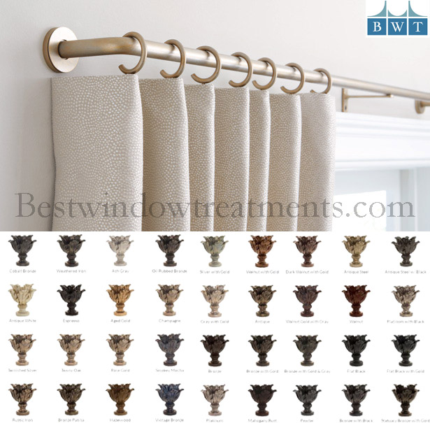 french return custom drapery rods by the finial company 1 3 4 diameter bestwindowtreatments com