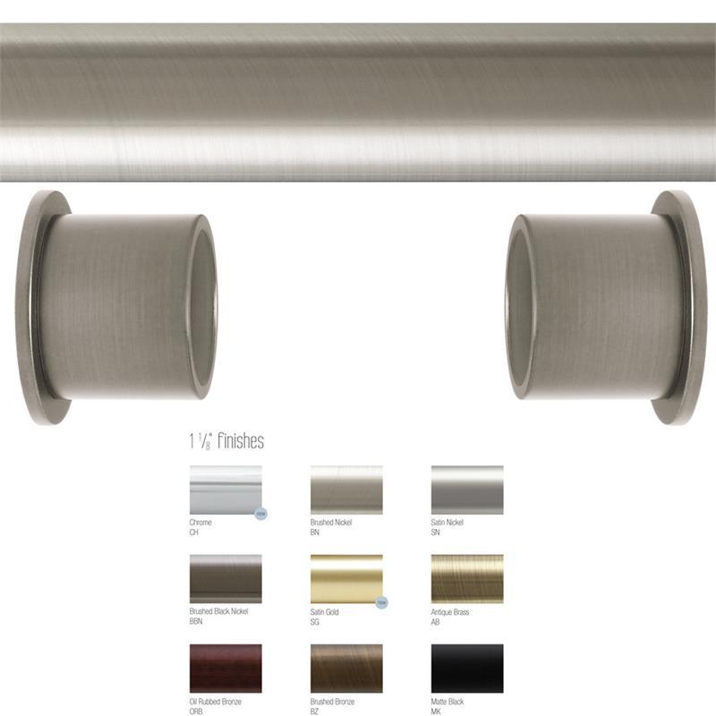 aria inside mount 1 1 8 dia custom metal curtain rod set bestwindowtreatments com