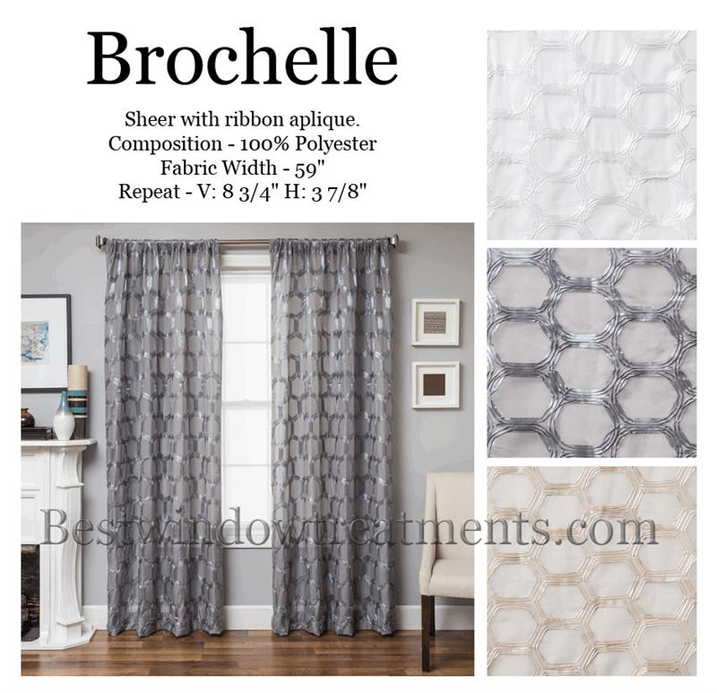 brochelle sheer curtains with honeycomb tile style drapery bestwindowtreatments com