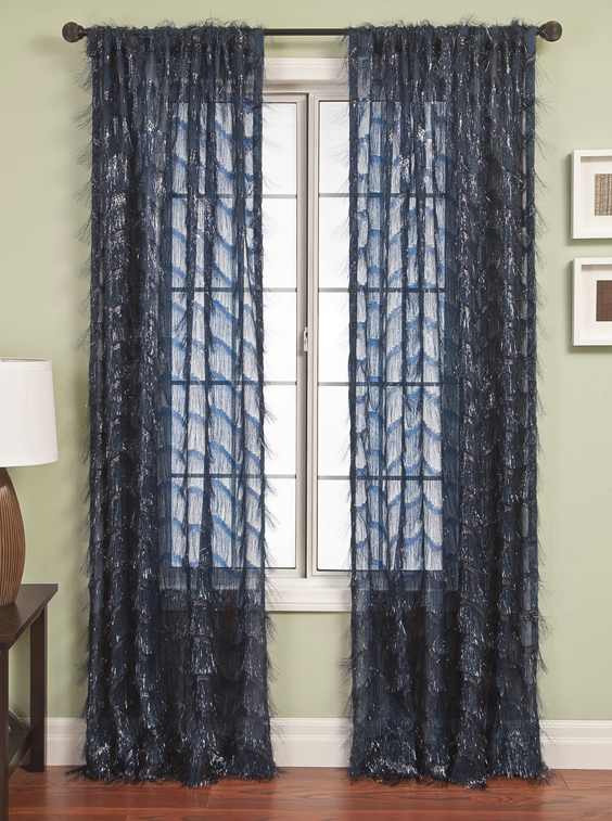 Eyelash Sheer Curtain Drapery Panels