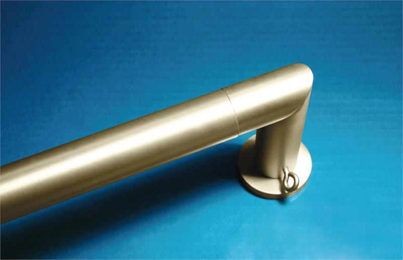 theo french return 1 1 8 dia custom metal curtain rod set bestwindowtreatments com