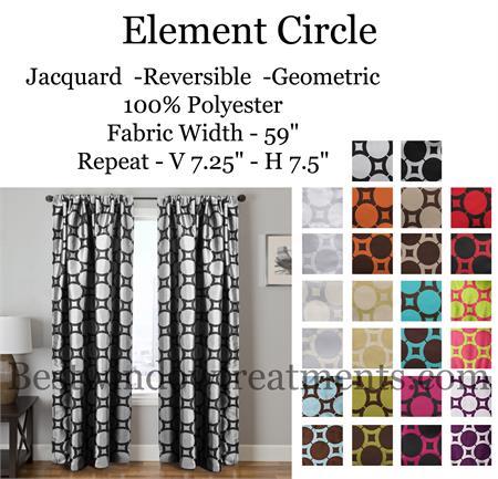 Element Circle Curtain Drapery Panels  www