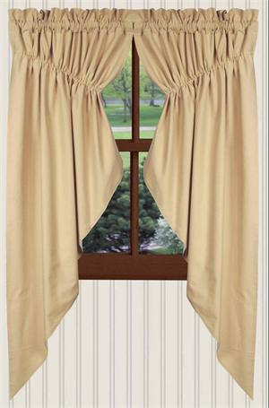 kitchen curtain patterns garbage cans farm house solid prairie curtains in nutmeg ...