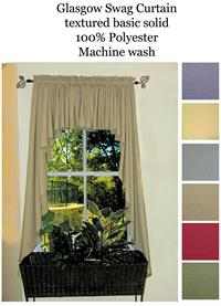 swag curtains for kitchen sink designs ultra fullness glasgow in blue, harvest ...