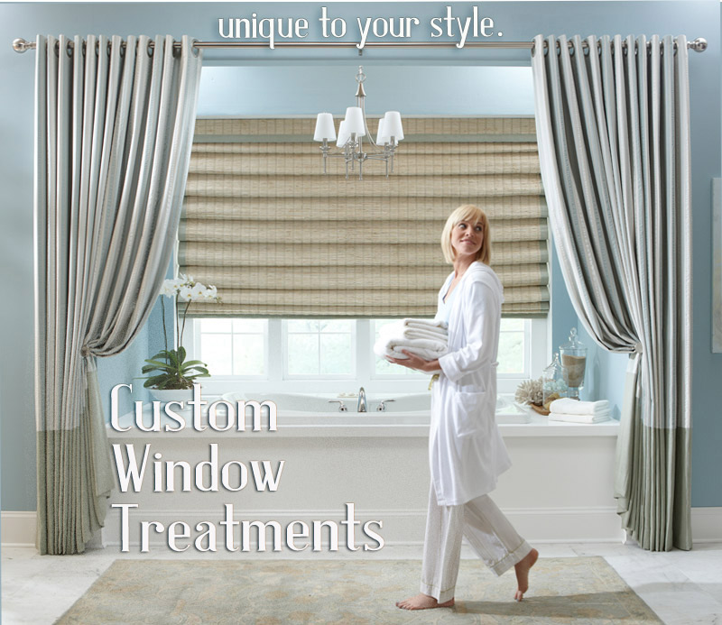 Custom Dries And Window Top Treatments With Roman Shades Blinds