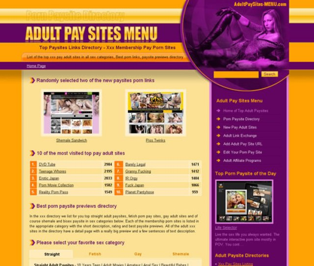 List Of Top Adult Paysites Best Paid Porn Catalogue