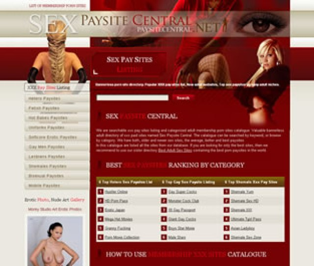 Xxx Pay Sites Listing Adult Porn Websites Catalogue