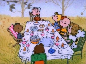 FRANKLIN, LINUS, SALLY, CHARLIE BROWN, PEPPERMINT PATTY, SNOOPY AND MARCIE