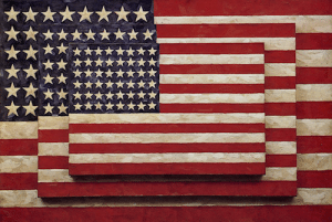 """Three Flags"", by Jasper Johns"