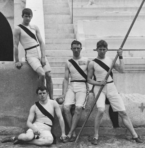 1896 Princeton athletes at the Olympics Far right: Albert Tyler IOC/Olympic Museum /Allsport
