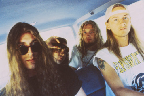 ca. 1992 --- Seattle grunge band Alice in Chains from image by © Caroline Greyshock/Corbis