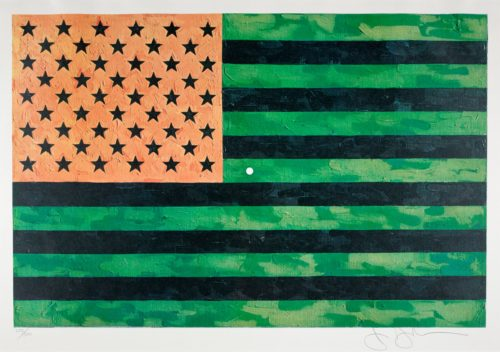 Jasper Johns, Flag (Moratorium), 1969