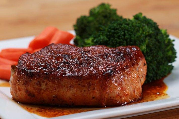 Easy Glazed Pork Chops Recipe