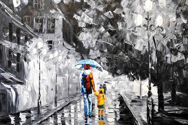 Schilderij Rainy day te koop  Betaalbarekunstnl