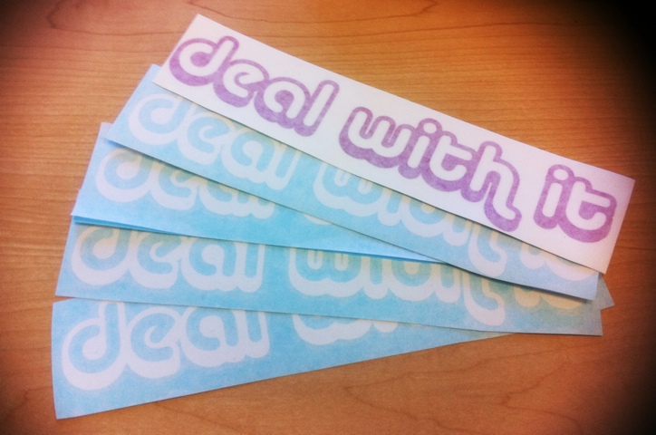 Deal With It stickers
