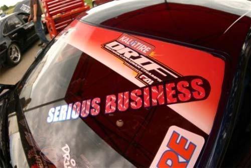 Serious business drift car sticker