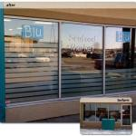BLU Seafood Market - Frosted Vinyl install