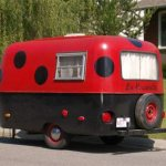 Lady bug trailer stickers