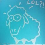 LOL Sheep sticker