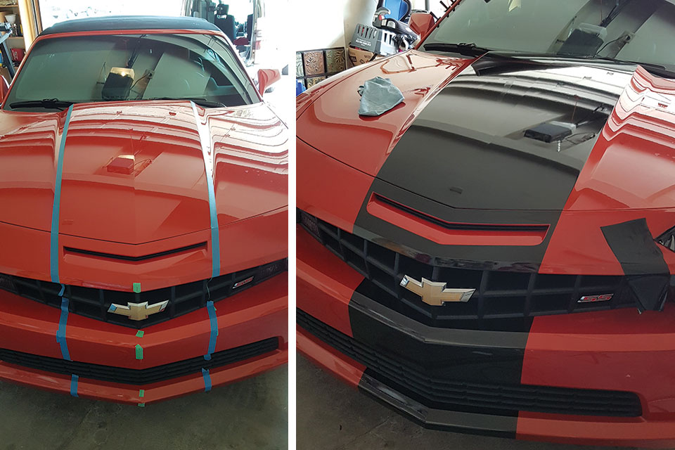 Camaro vinyl wrap