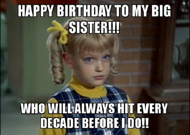 happy birthday big sister meme