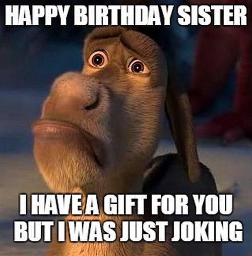 happy birthday meme for sister