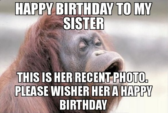 happy birthday meme to my girl sister