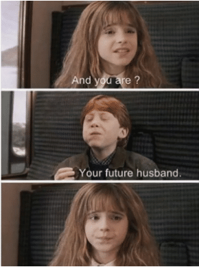 funny love harry potter image