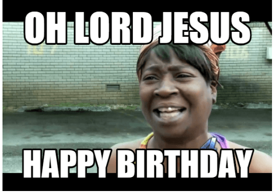 jesus happy birthday