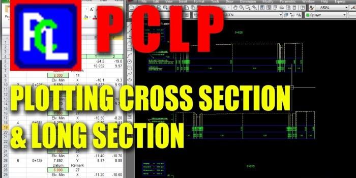 Download Program PCLP (Plan, Cross Section and Longitudinal Profile Program) + Contoh File Perhitungan