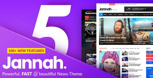Free Download Jannah WP Theme WordPress Terbaru