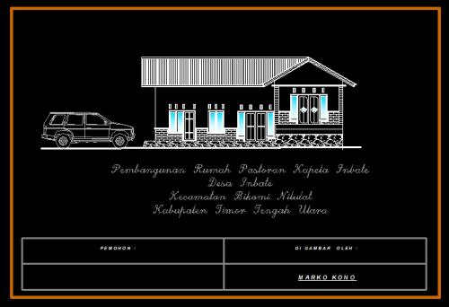 Download Rumah Pastoran Format DWG AutoCAD