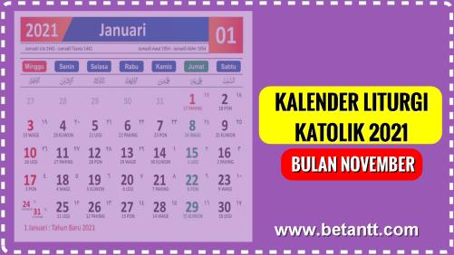 Kalender Liturgi Katolik Bulan November 2021