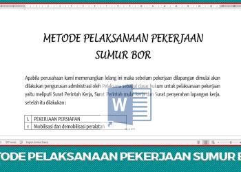 Download Dokumen Metode Pelaksanaan Pekerjaan Sumur Bor
