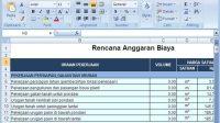 Download Excel Perhitungan RAB dan Time Schedule untuk Bangunan Rumah
