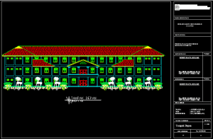 Download Gambar Rumah Sakit 3 Lantai Bestek Lengkap DWG AutoCAD