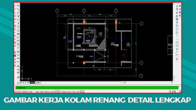 Download Gambar Kerja Kolam Renang File Autocad DWG Terlengkap