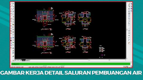 Download Kumpulan Gambar Kerja Detail Saluran Pembuangan Air (Got/Selokan) File DWG