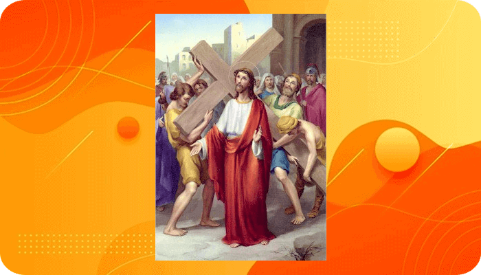 Perhentian 2, Yesus memanggul Salib