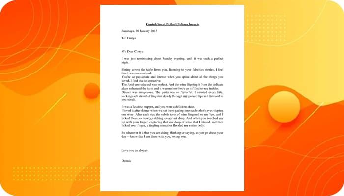 Contoh Surat Pribadi Singkat Untuk Sahabat, Guru, Teman, Orang Tua, Dinas, Bahasa Inggris
