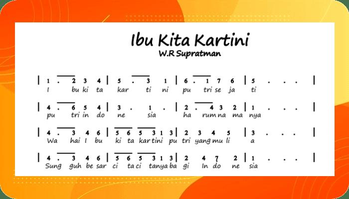 Ibu Kita Kartini - Chord - Lirik Lagu dan Video Terlengkap