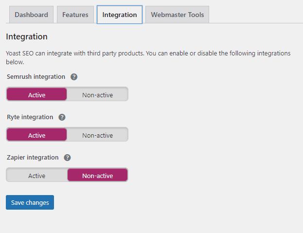Masuk ke Halaman SEO => General => Integration