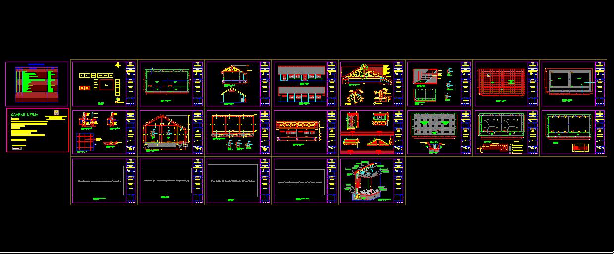 Download Gambar Gedung SMP + Bestek Lengkap DWG AutoCAD