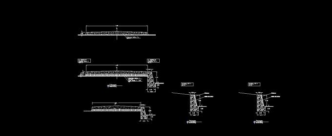Download Gambar Rencana Talud Penahan Tanah (Retaining wall) DWG AutoCAD