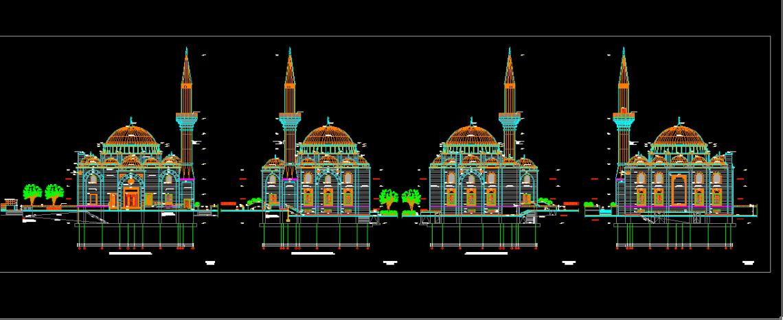 Download Gambar Kerja Masjid Detail Lengkap DWG AutoCAD