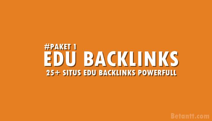 25+ Situs Edu Backlinks Powerfull Terbaru