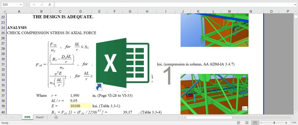 Download File Hitung Struktur Rangka Atap Baja Ringan Excel