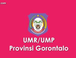 Data UMP/UMR Kabupaten/Kota di Provinsi Gorontalo 2021