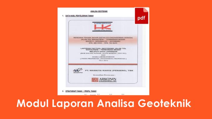 Download Modul Laporan Analisa Geoteknik File PDF