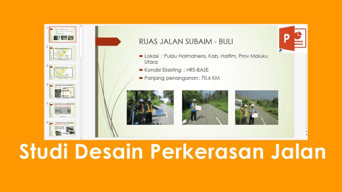 Download Modul Studi Desain Perkerasan Jalan File PPT